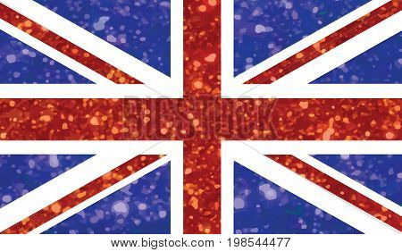 Blue And Red Luxury Glitter United Kindom Uk Country Flag Icon