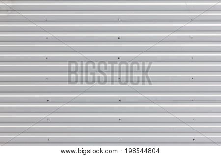 Metal texture horizontal lines wall abstract background.