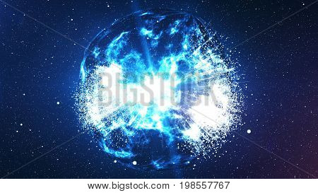 Spheri Big Bang Explosion In The Universe
