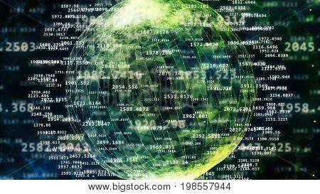 Spheric Cyberspace With Latitude And Longitude