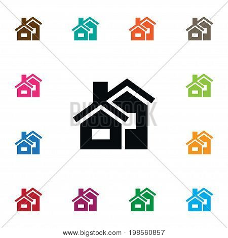 Property Vector Element Can Be Used For Domicile, Mortgage, Property Design Concept.  Isolated Domicile Icon.