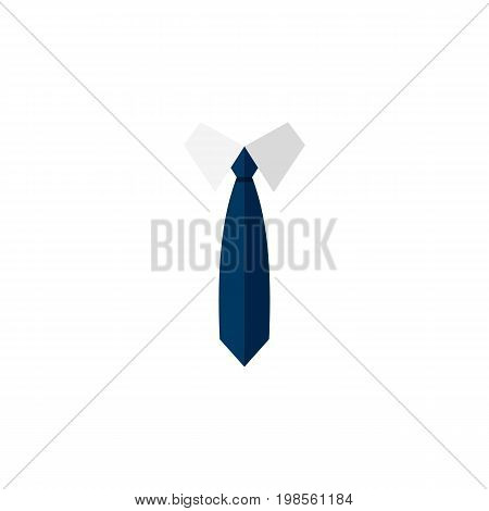 Necktie Vector Element Can Be Used For Necktie, Clothing, Fashion Design Concept.  Isolated Clothing Flat Icon.