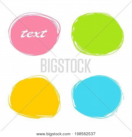 Colorful roundish banners. Set on a white background.