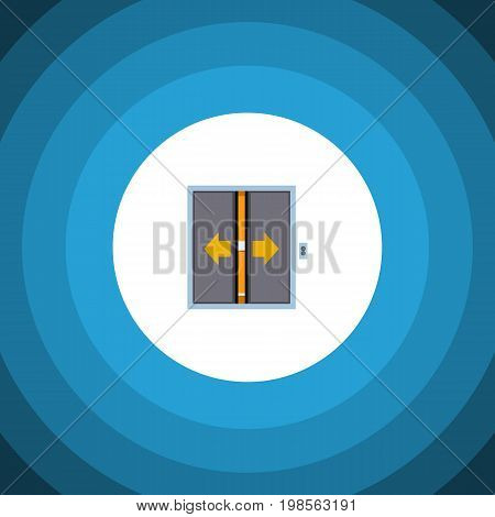 Lobby Vector Element Can Be Used For Elevator, Door, Lobby Design Concept.  Isolated Elevator Flat Icon.