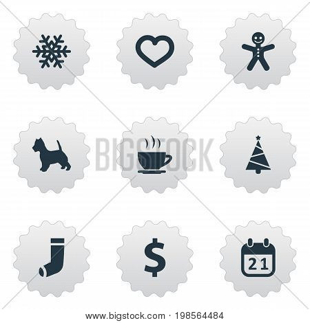 Elements Love, Hosiery, Money And Other Synonyms Greenback, Ginger And Snow.  Vector Illustration Set Of Simple Brood Icons.