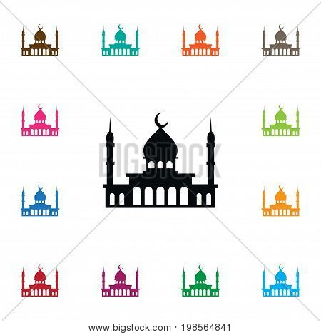Islam Vector Element Can Be Used For Minaret, Mosque, Islam Design Concept.  Isolated Minaret Icon.