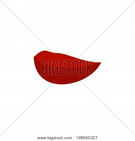 Kiss Vector Element Can Be Used For Mouth, Lips, Kiss Design Concept.  Isolated Mouth Flat Icon.