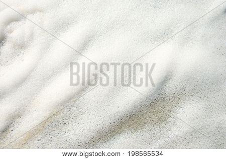 Natural sea foam background. Black Sea coast