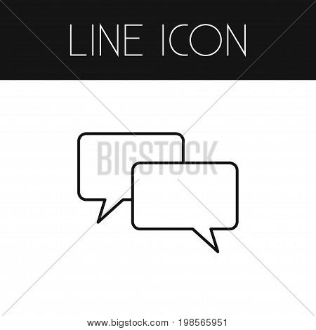 Chatting Vector Element Can Be Used For Conversation, Chatting, Message Design Concept.  Isolated Conversation Outline.