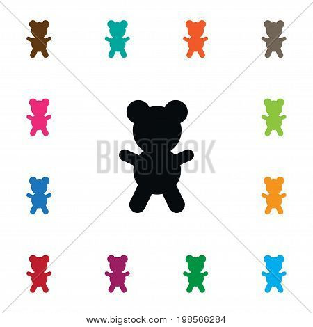 Teddy Vector Element Can Be Used For Teddy, Bruin, Bear Design Concept.  Isolated Bruin Icon.