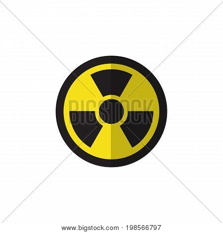 Irradiation Vector Element Can Be Used For Irradiation, Radiation, Dangerous Design Concept.  Isolated Radiation Flat Icon.