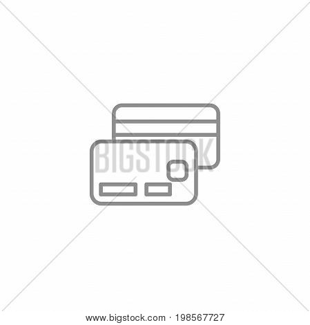 Money credit card line thin icon. Online shopping sign vector illustration. Business and financial vector.