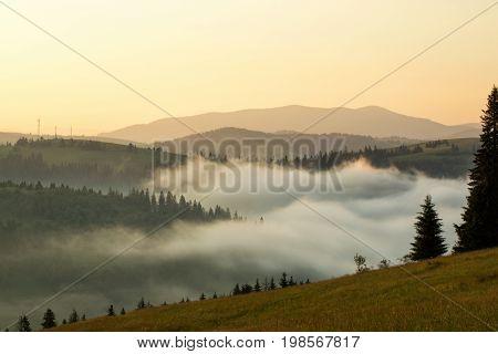 Beautiful Scenery Of The Mountain Range