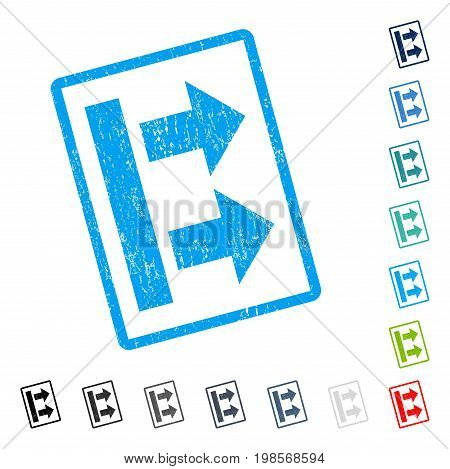 Bring Right rubber watermark in some color versions.. Vector icon symbol inside rounded rectangular frame with grunge design and dust texture. Stamp seal illustration, unclean emblem.