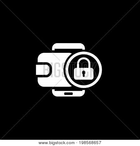 Modern Flat Digital Wallet Secure Transaction concept Illustration. Mobile banking, online finance, e-commerce banner template. For mobile app, web, header, blog post.