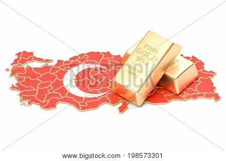 Foreign-exchange reserves of Turkey concept 3D rendering