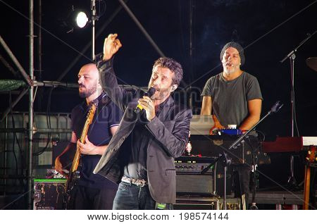 The Italian Singer And Songwriter Daniele Silvestri Performs At The Roman Theater Of Fiesole.