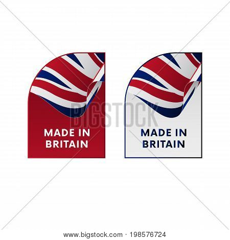 Stickers Made in Great Britain. Vector illustration.