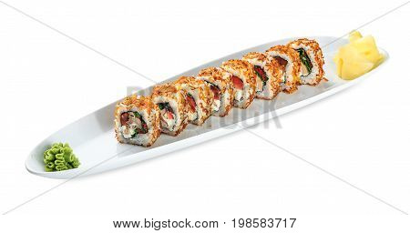 Sushi Tori Kunsei Yasai Plate - Isolated On White