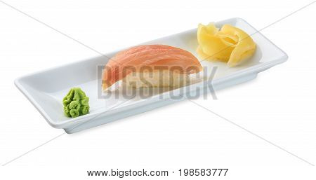 Sushi With Marlin Isolated On White