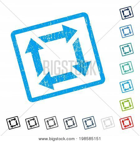 Recycle rubber watermark in some color versions.. Vector pictogram symbol inside rounded rectangle with grunge design and dust texture. Stamp seal illustration, unclean emblem.