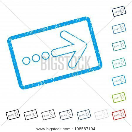 Send Right rubber watermark in some color versions.. Vector icon symbol inside rounded rectangular frame with grunge design and scratched texture. Stamp seal illustration, unclean sign.