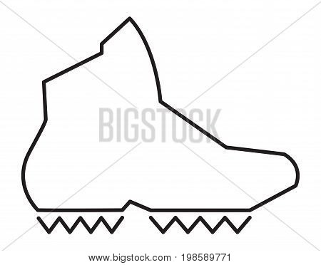 A vector illustration of a hiking boot.