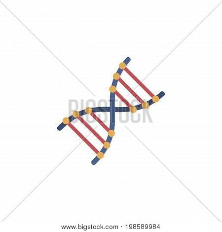 Vector DNA icon. Science and education symbol for info graphics, websites and print media. Flat simple image.