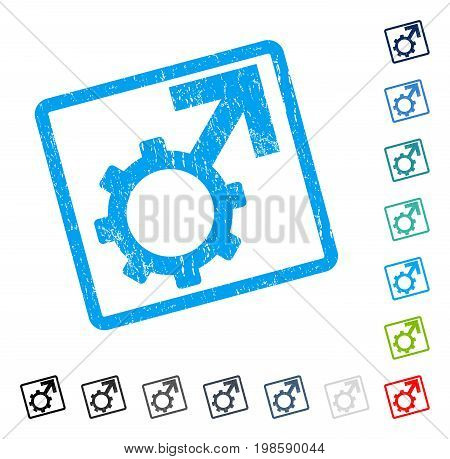 Technological Potence rubber watermark in some color versions.. Vector icon symbol inside rounded rectangular frame with grunge design and scratched texture. Stamp seal illustration, unclean sign.
