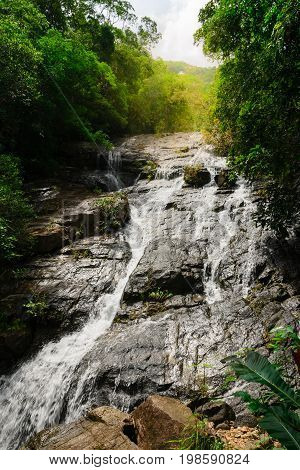 Ngao Waterfall in National Park Ranong province,Thailand
