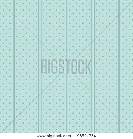 Polka dot seamless pattern. Blue background. Vector