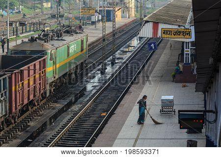Train Station In Gaya, India