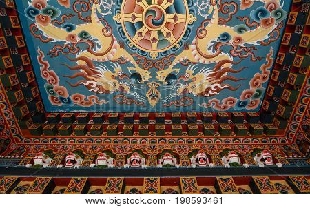 Inside Of Bhutanese Buddhist Temple In India