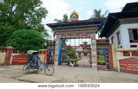 Royal Bhutanese Monastery In Bodhgaya, India