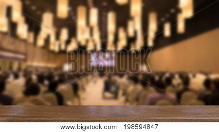people in modern conference hall interior. Audience in seminar room. Attendee business event concept