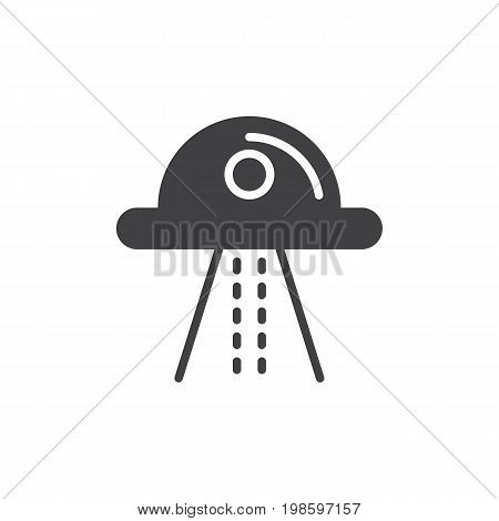 Ufo icon vector, filled flat sign, solid pictogram isolated on white. Symbol, logo illustration. Pixel perfect vector graphics