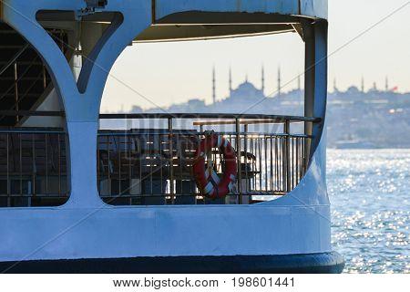 Istanbul Bosporus at sunset