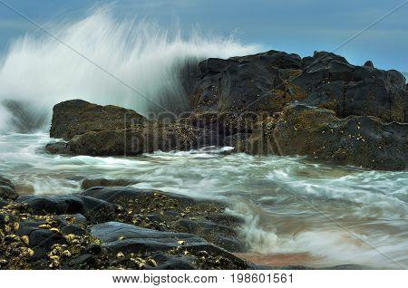 A seascape in Amanzimtoti Kwa Zulu Natal South Africa