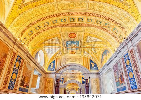 Vatican-city, Vatican- May 09, 2017: Inside The Vatican Museum, One Of The Largest Museums In The Wo