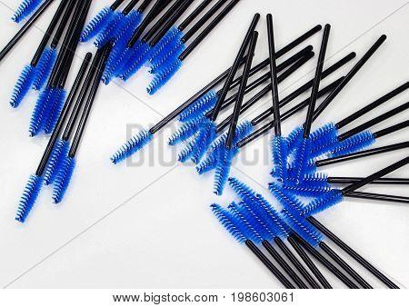 Brushes For Eyelashes On White