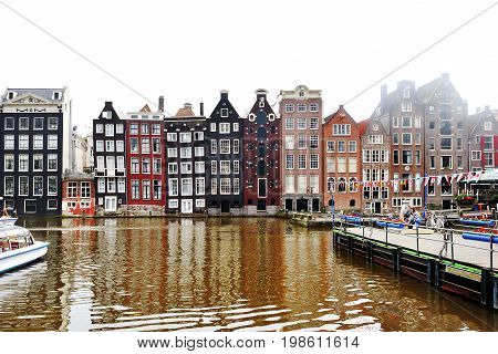 Amsterdam Holland Europe - scenic view of a canal and building