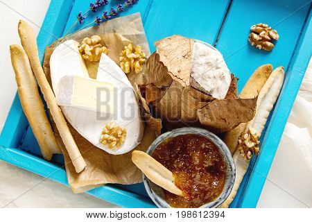 French National Food. Cheese With Mold. A Delicious Appetizer Fo