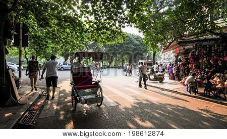 Old Town In Hanoi, Vietnam