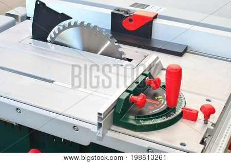 Saw cut circular machine. Element of design.
