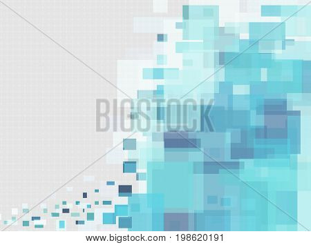 Abstract Background Blue Rectangle On Gray Background