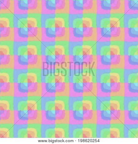 Abstract Colorful Rectangle Seamless Pattern