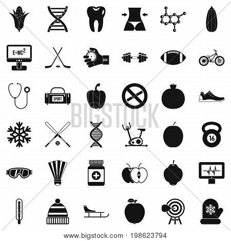 Wellness condition icons set. Simple style of 36 wellness condition vector icons for web isolated on white background
