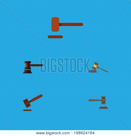 Flat Icon Lawyer Set Of Legal, Justice, Defense And Other Vector Objects