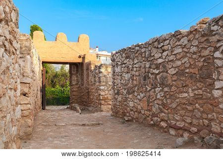 Entrance To Iberian Citadel Of Calafell Town