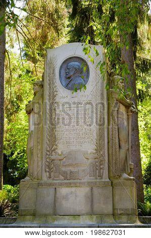 Thomas Burke Memorial in Seattle City Park